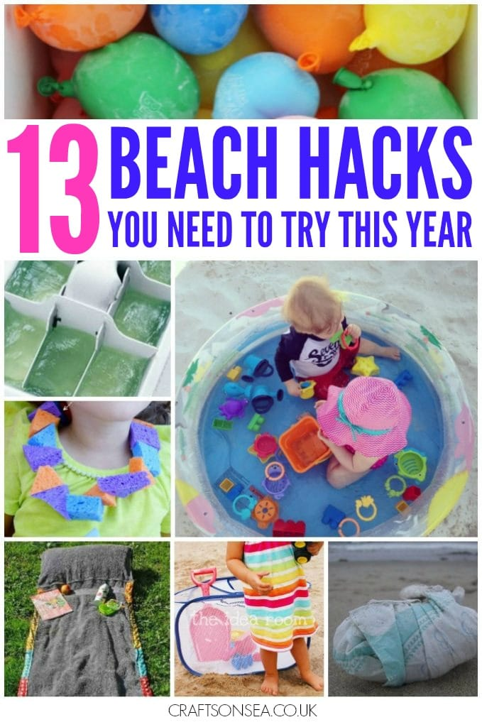 beach hacks for parents
