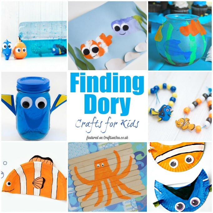 finding dory crafts for kids square