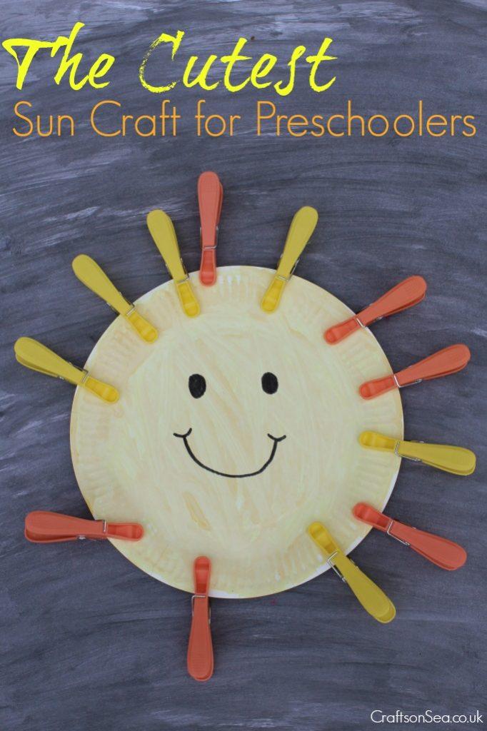 sun craft for preschoolers