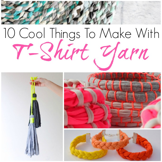 10 cool things to make with t-shirt yarn
