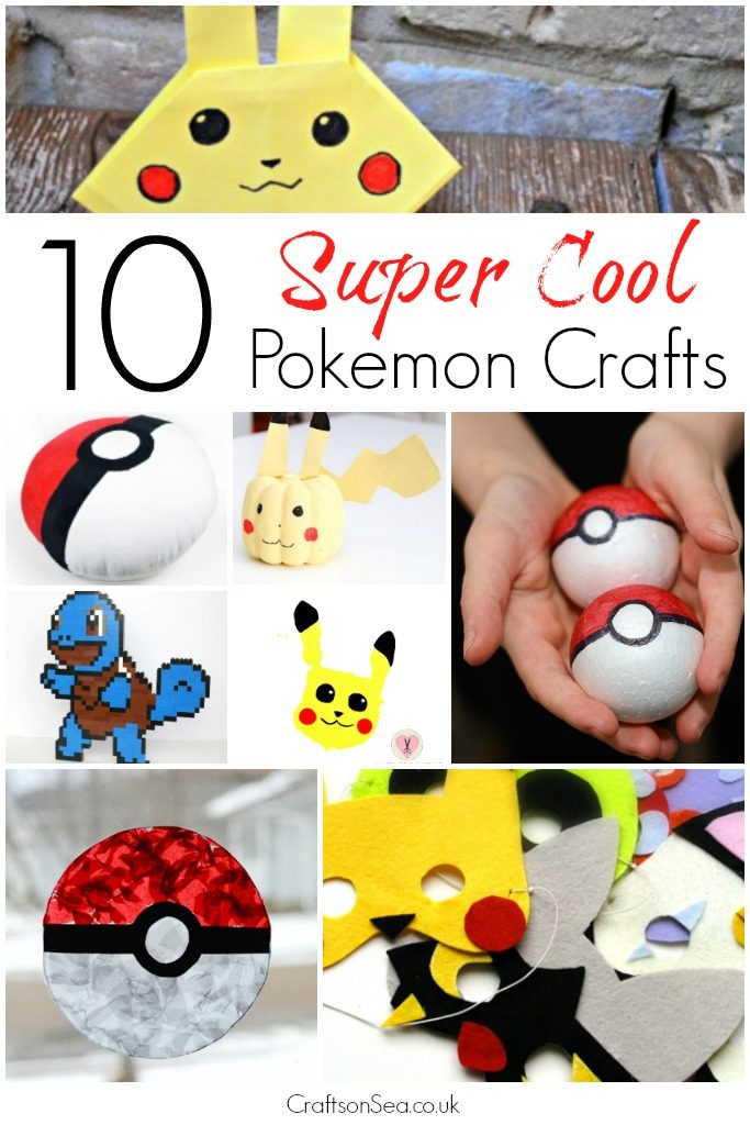 10 super cool pokemon crafts crafts on sea for Cool things to craft