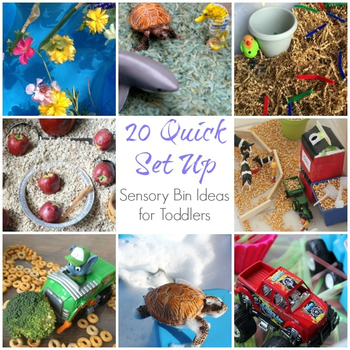 quick set up sensory bin ideas for toddlers