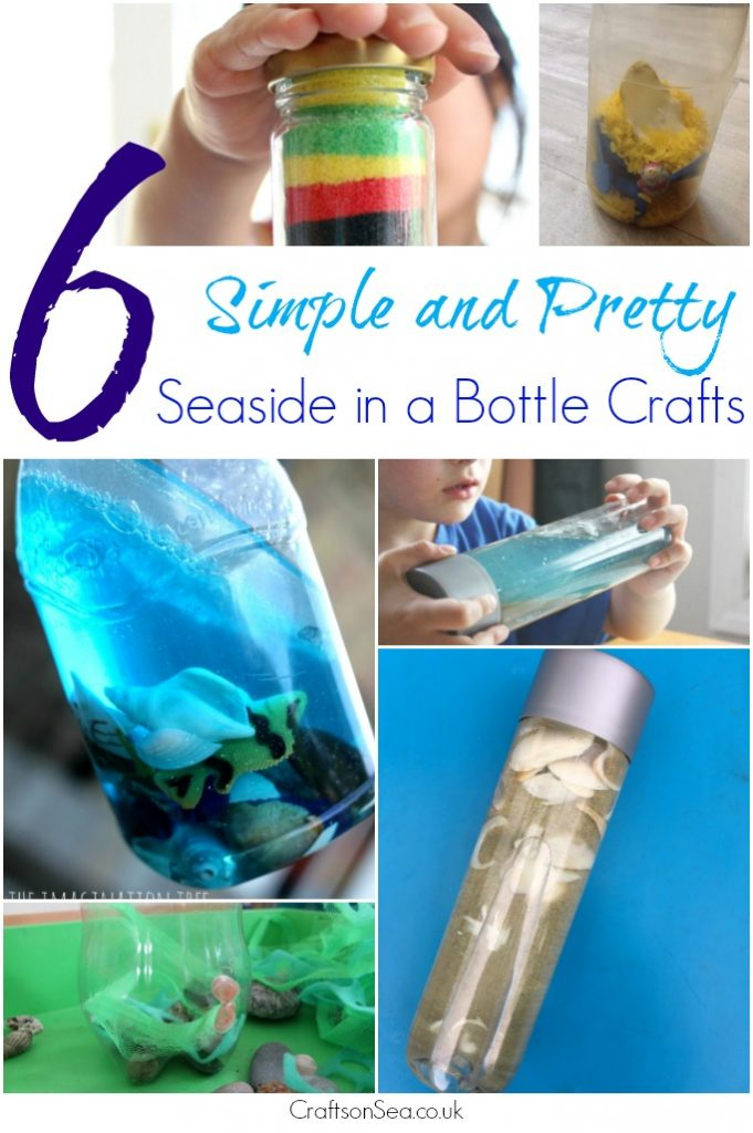 seaside in a bottle crafts
