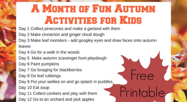 activities for kids autumn