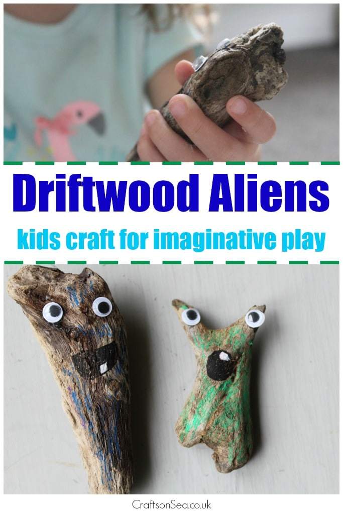 Driftwood aliens crafts on sea for Driftwood crafts to make
