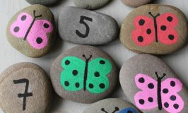 DIY Butterfly Number Stones