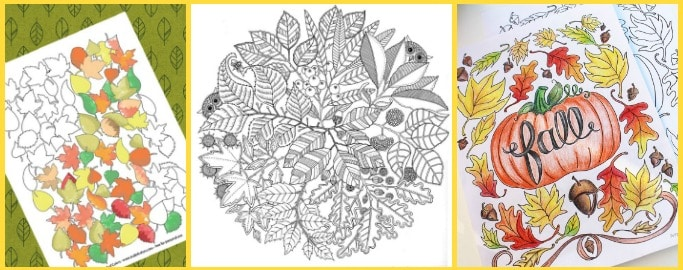 autumn colouring pages for adults