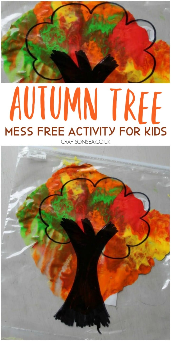 autumn tree activity for kids mess free easy