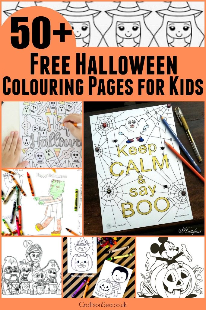 50+ Free Halloween Colouring Pages for Kids - Crafts on Sea