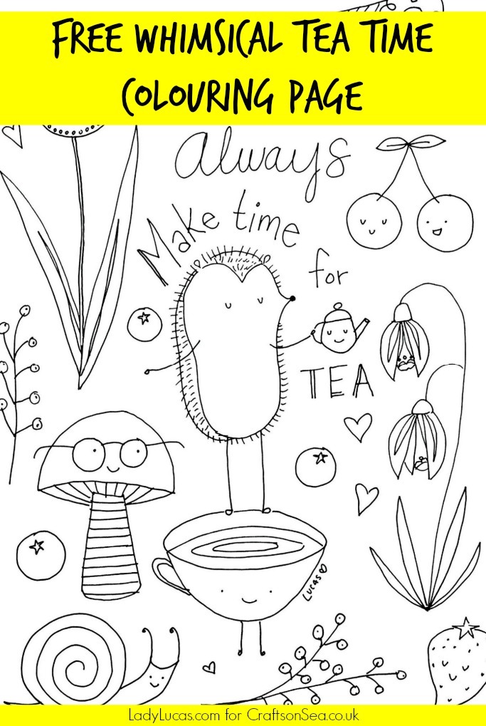 Free Tea Party Colouring Page - Crafts on Sea