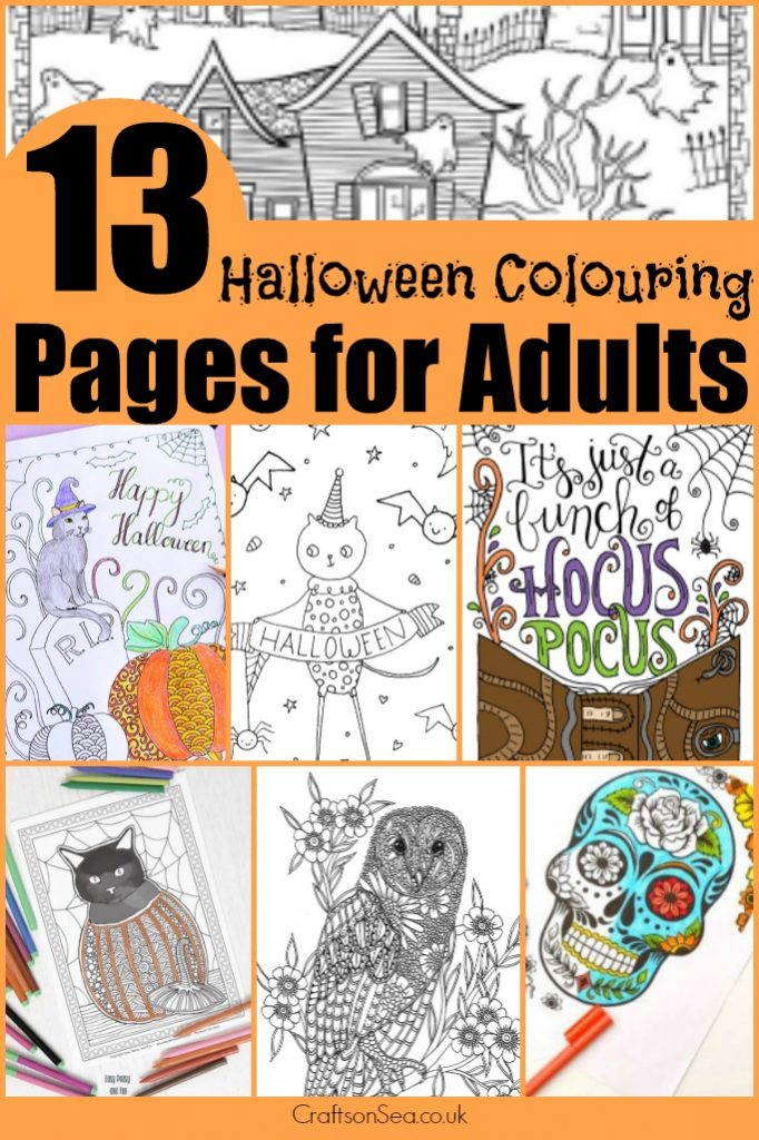Free Halloween Colouring Pages For Adults Crafts On Sea
