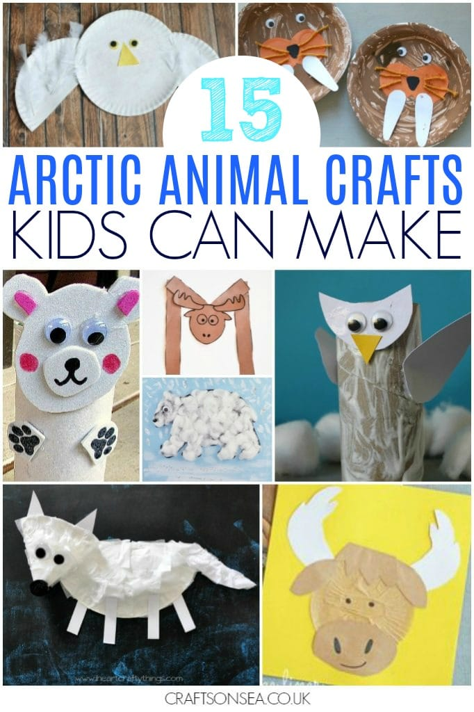 arctic animal crafts for kids easy