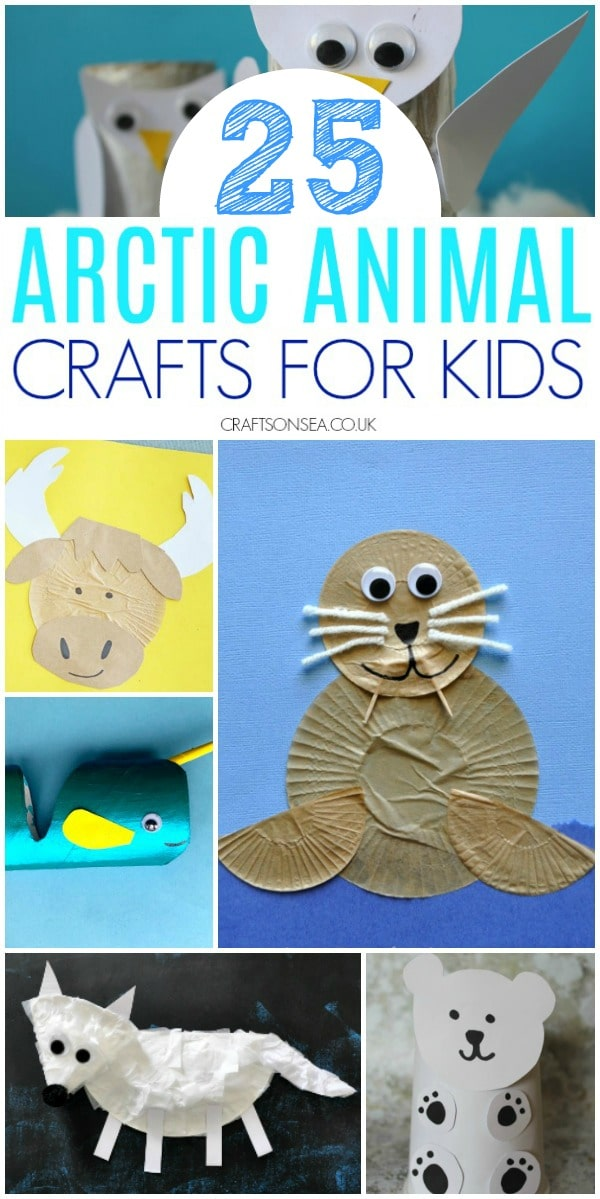 arctic animal crafts for kids preschool #arcticanimals #preschool