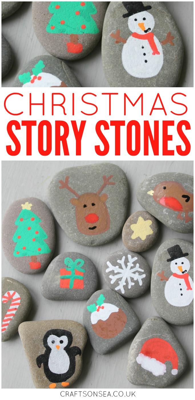 christmas story stones painted rocks