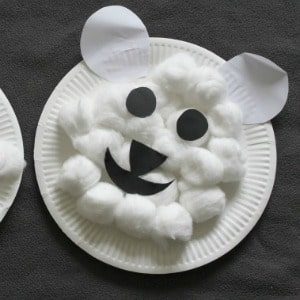 polar bear craft for kids 300