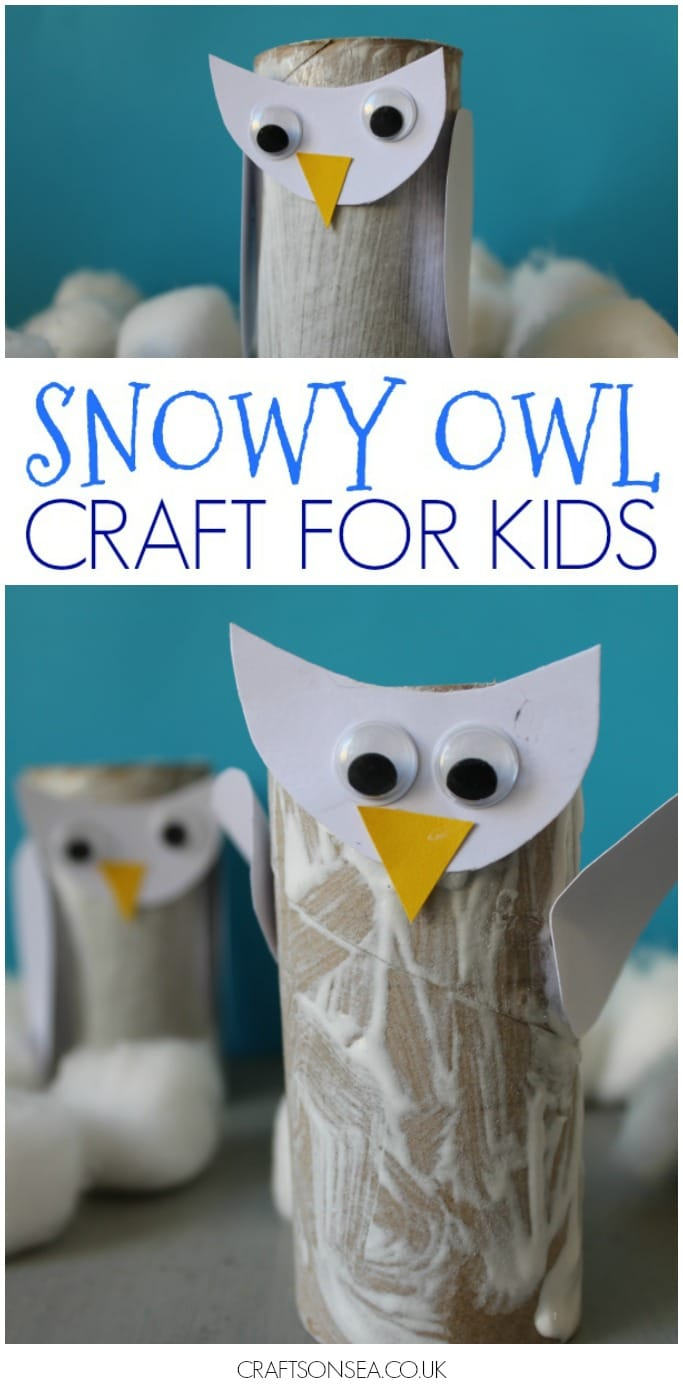 snowy owl craft for kids and toddlers