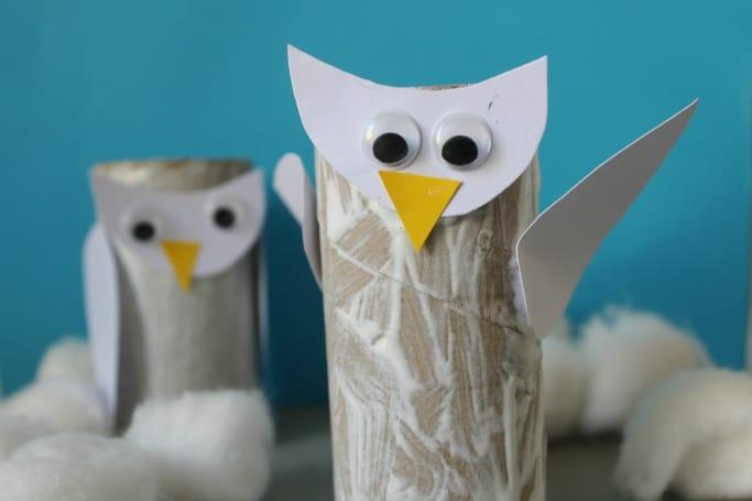Snowy Owl Craft - Crafts on Sea - photo#11