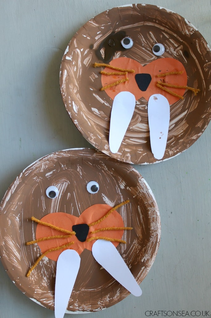 Walrus craft for kids crafts on sea for Animals art and craft for preschoolers