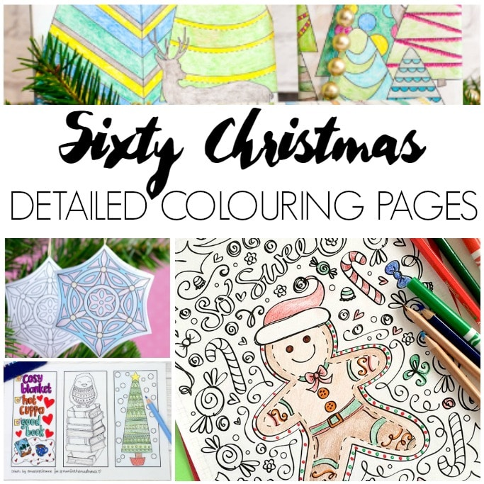 Detailed Christmas Colouring Pages For Adults