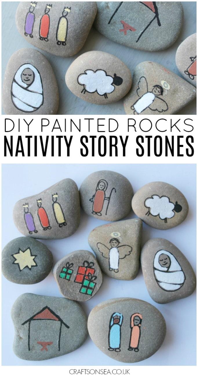 Painted Rocks Nativity Story Stones
