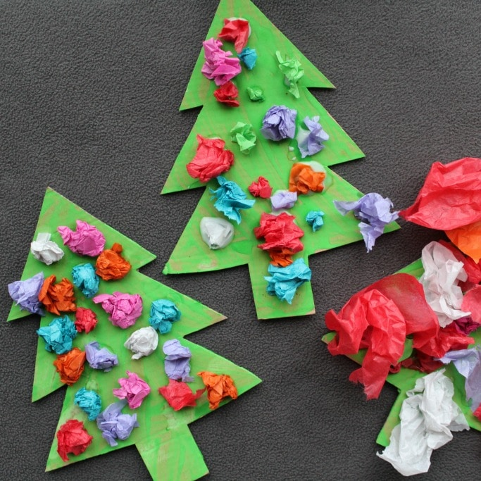scrunched-tissue-paper-christmas-trees