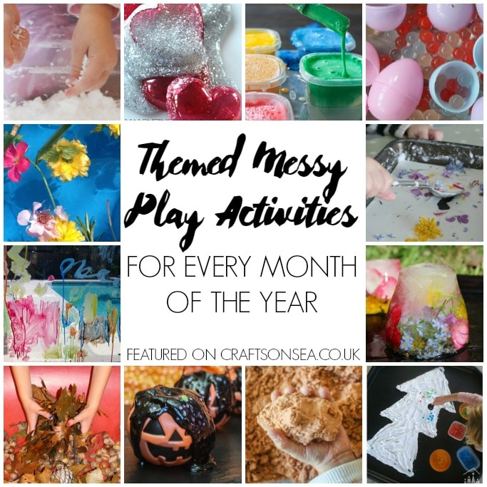 themed messy play activities for every month of the year