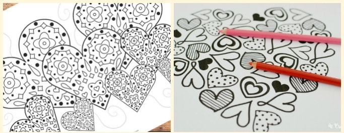 Free Printable Valentines Day Colouring Pages for Adults and Kids ...