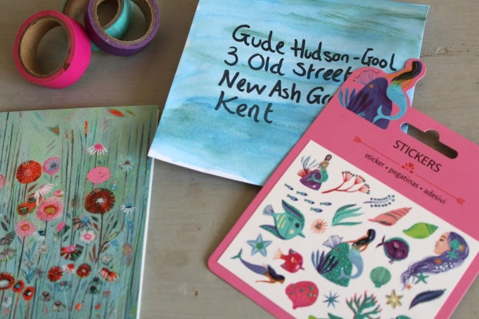 snail mail ideas painting envelopes