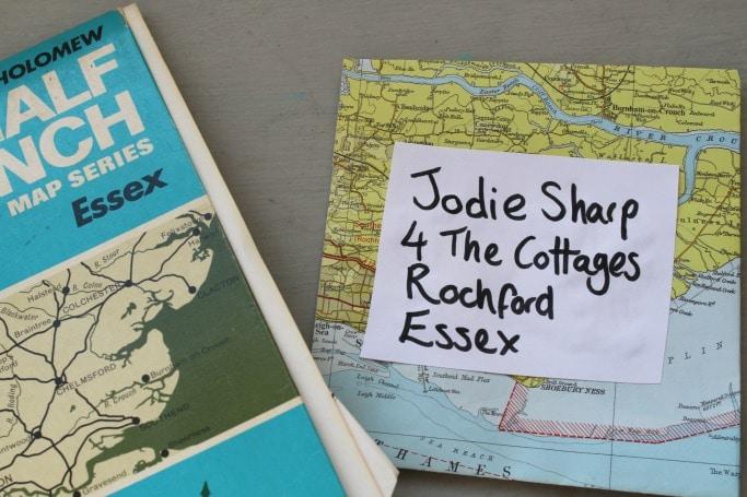 snail mail ideas vintage maps