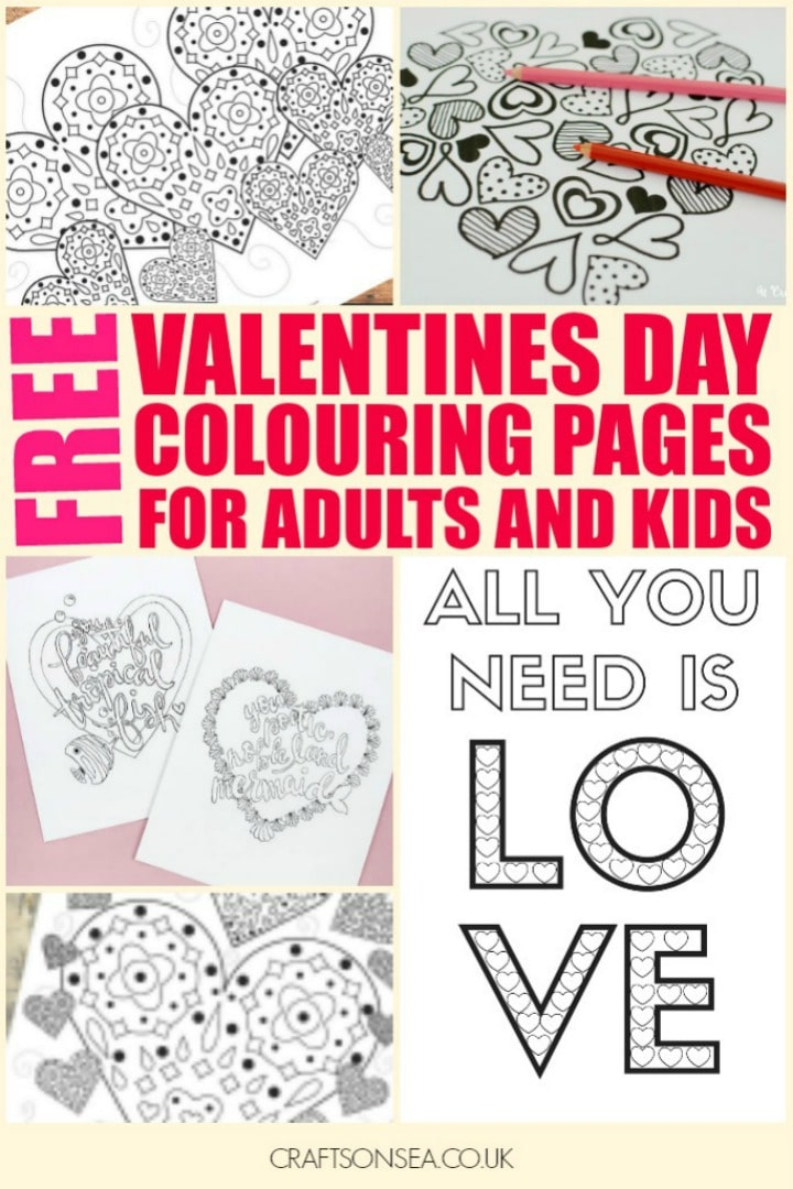 valentines colouring pages free