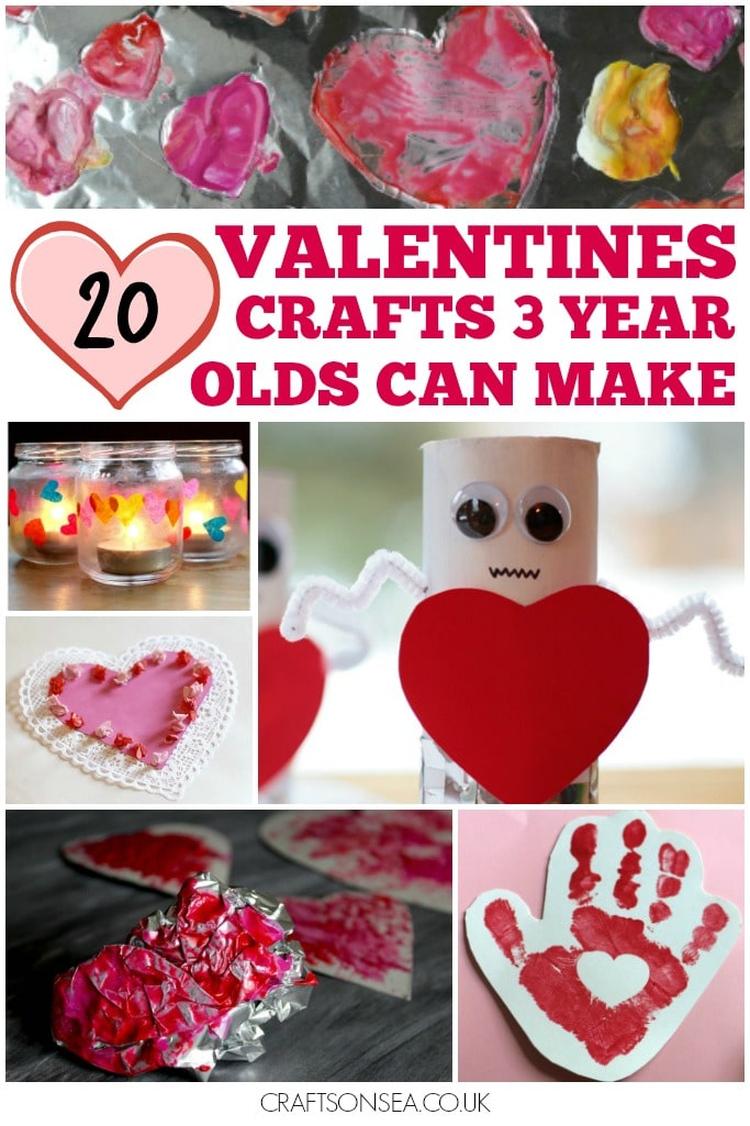 20 VALENTINES CRAFTS 3 YEAR OLDS CAN MAKE