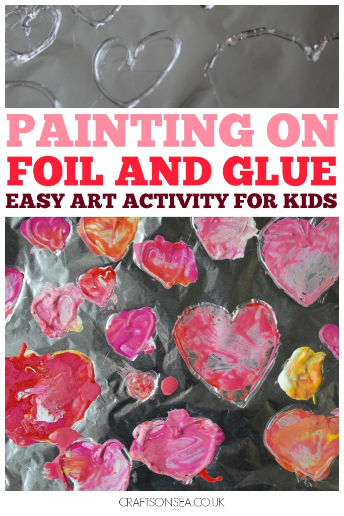 painting on foil and glue