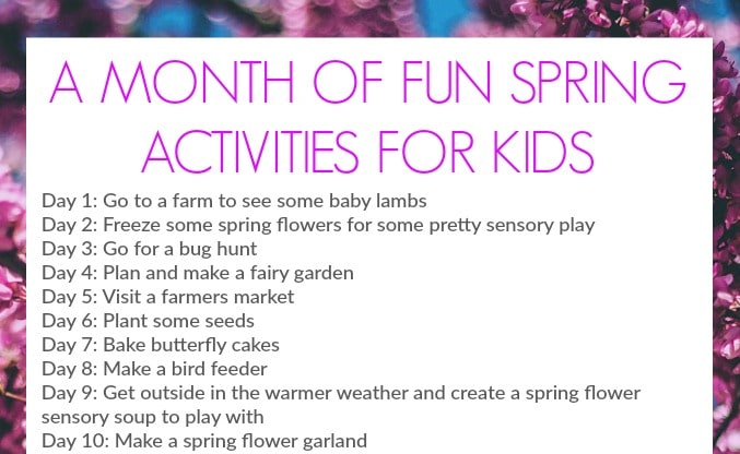 spring activities for kids crafts