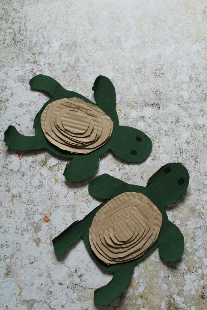 CARDBOARD TURTLE CRAFT FOR KIDS