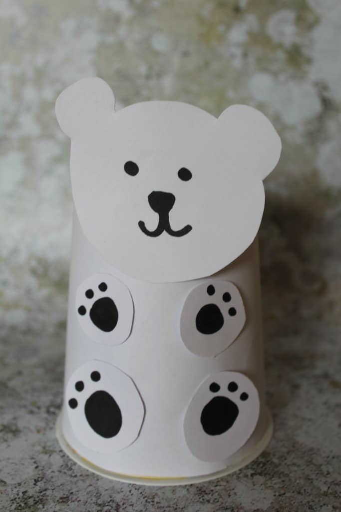 KIDS POLAR BEAR CRAFT EARTH HOUR