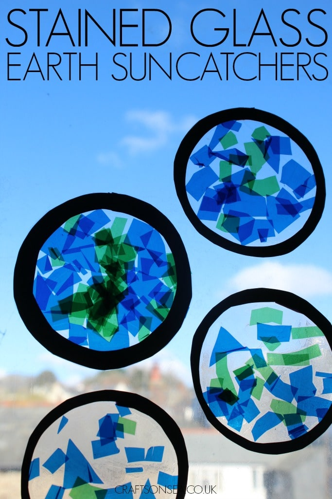 STAINED GLASS EARTH DAY CRAFT FOR KIDS
