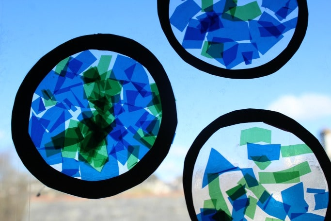 STAINED GLASS PLANET EARTH CRAFT