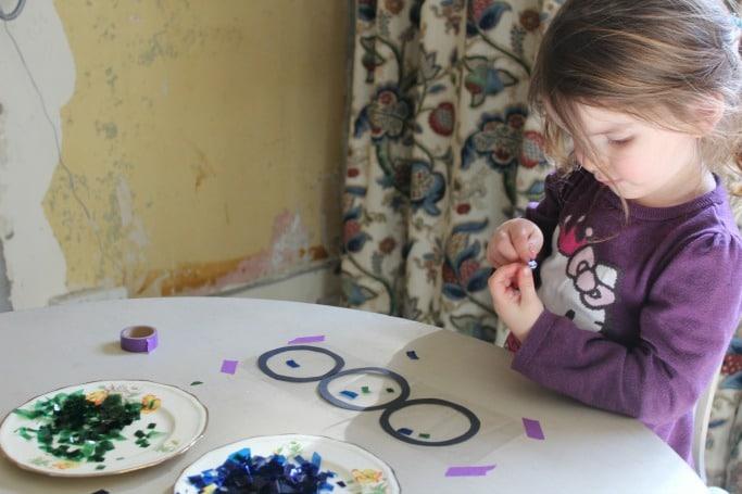 earth suncatcher craft for preschool