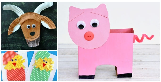 farm animal crafts for preschoolers and kindergarten