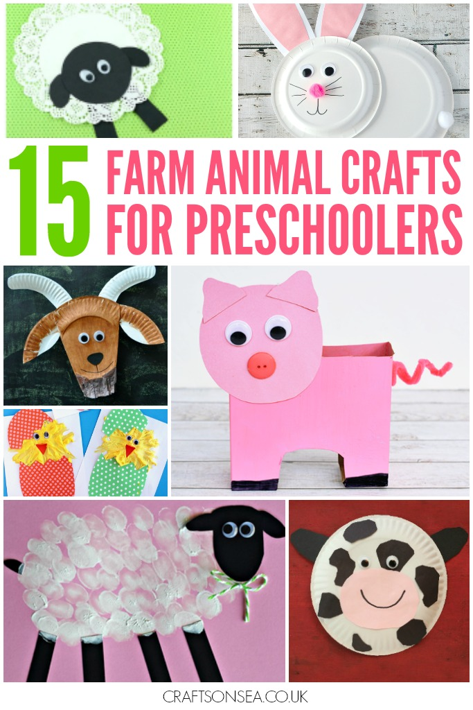 15 farm animal crafts for preschoolers crafts on sea for Animals art and craft for preschoolers
