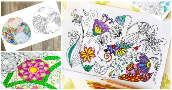 free detailed spring colouring pages for adults