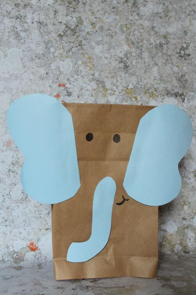 paper bag elephant