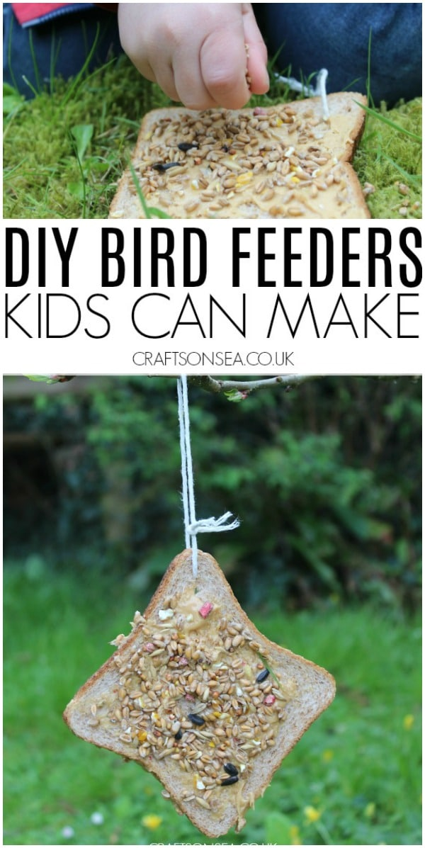 diy birdfeeders kids can make