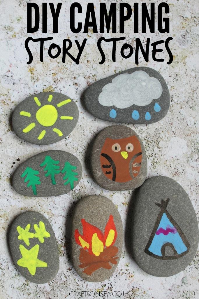 diy camping story stones