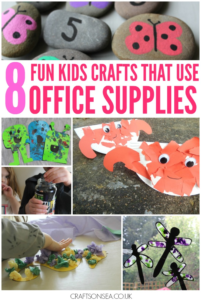 kids crafts that use office supplies