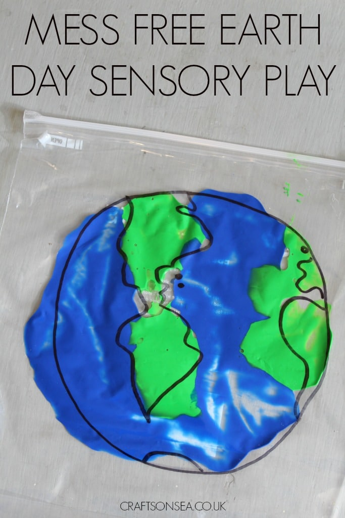 mess free earth day sensory play