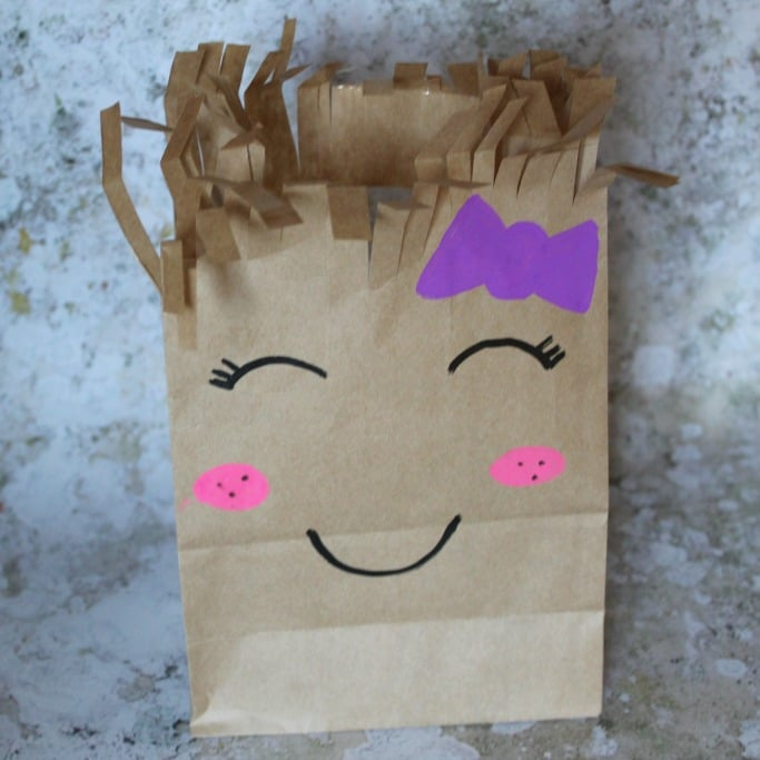 paper bag haircuts craft fb