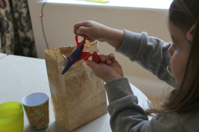 scissor skills craft for preschool