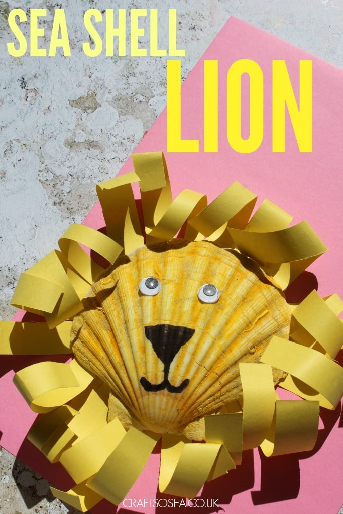 sea shell crafts for kids lion