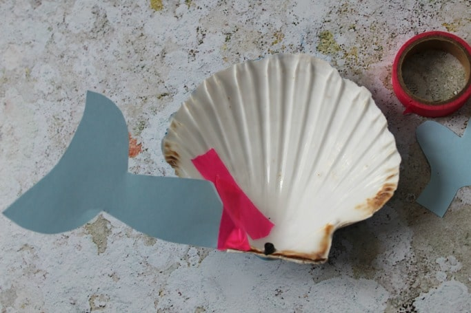 sea shell crafts for kids whale